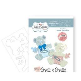 Fustella Sizzix  - Taglia e Ritaglia - Orsetto e Orsetta - CRFS000200