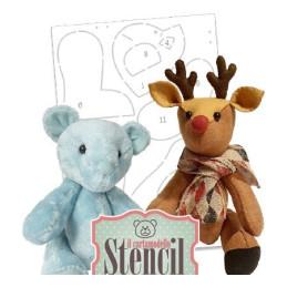 Cartamodello Stencil Creattiva Orsetto e Renna CRSTE03500