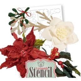 Cartamodello Stencil Creattiva Stella di Natale CRSTE03400