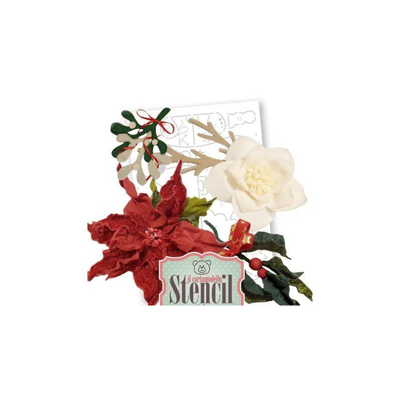 Stella Di Natale Cartamodello.Cartamodello Stencil Creattiva Stella Di Natale Crste03400