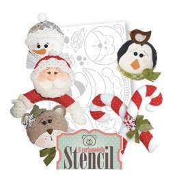 Cartamodello Stencil Creattiva Pupazzo di Neve Babbo Natale CRSTE02400