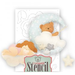 Cartamodello Stencil Creattiva Bimba Sogni d'oro Orsetto  CRSTE02900