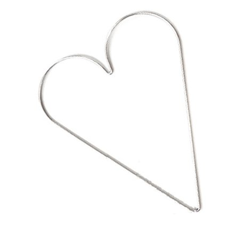 Ghirlanda in ferro, forma cuore - 30x21,5  83GHIR42