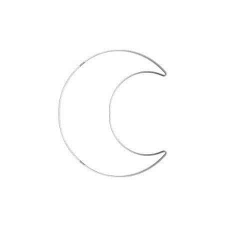 Ghirlanda in ferro, forma Luna - 24x25  83GHIR44