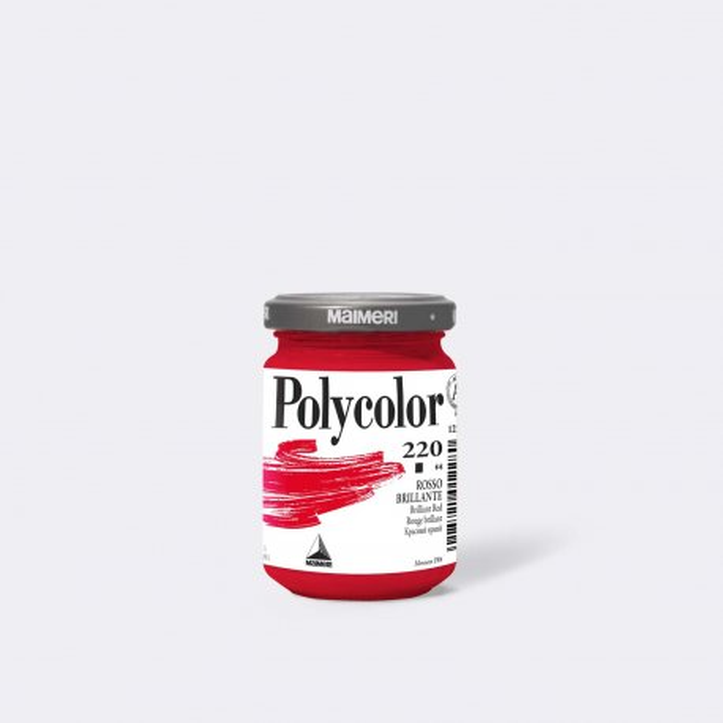 Maimeri Polycolor 220 Rosso brillante 140 ml.