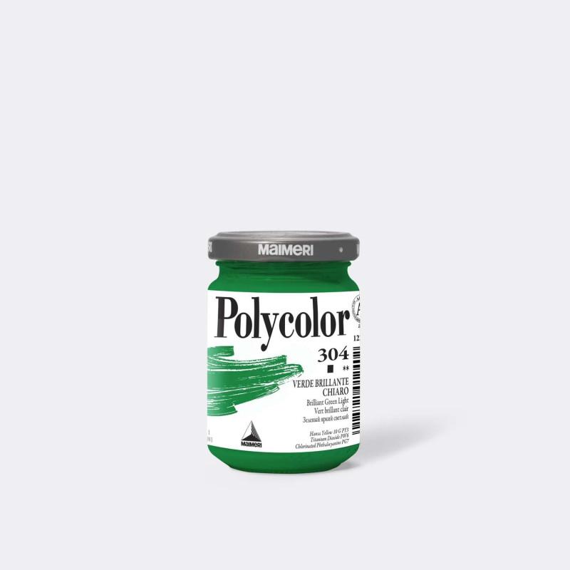 Maimeri Polycolor 304 Verde brillante chiaro 140 ml.