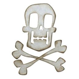 Fustella Sizzix Bigz Die 664215 Teschio e ossa incrociate