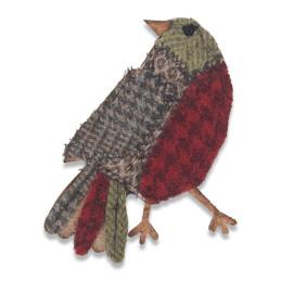Fustella Sizzix Bigz Die 664231 Uccellino Patchwork