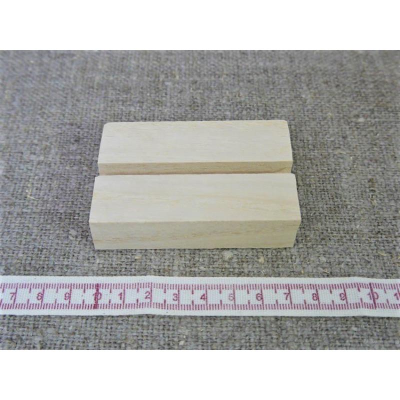 Base in legno 8 cm con 1 scanalatura