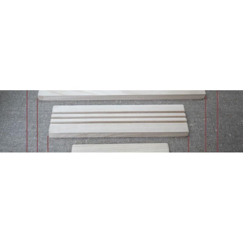 Base in legno 30 cm con 3 scanalature