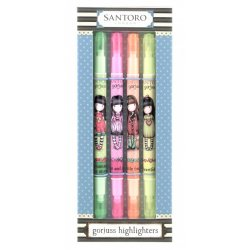 Set 4 Evidenziatori Highlighters Gorjuss 579GJ02