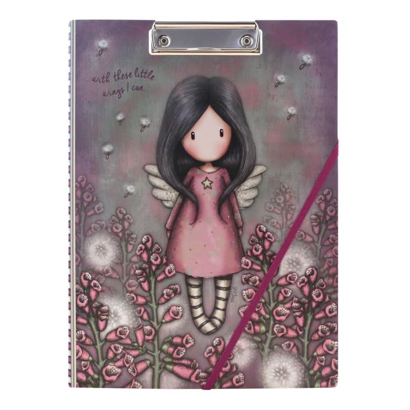 Cartellina Appunti con Clip foglio Gorjuss 1031GJ02 Little Wings