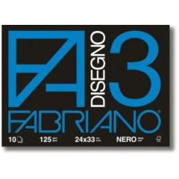 Blocco Disegno 3 Nero F4...