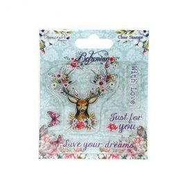Dovecraft Bohemian Clear Stamp – Stag DCSTP017
