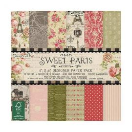 Dovecraft Sweet Paris 6x6 Paper Pack (FSC) DCDP148