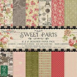 Dovecraft Sweet Paris 8x8 Paper Pack (FSC) DCDP147