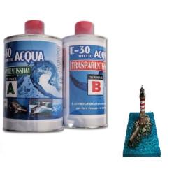 E-30 Effetto acqua, Trasparente, 200gr - NUOVA FORMULA (non ingiallente)