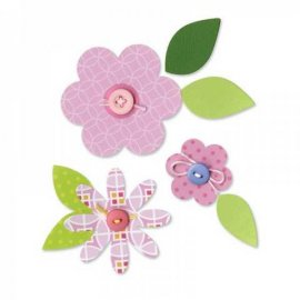 657690 Sizzix Bigz Die - Flower Layers & Leaves