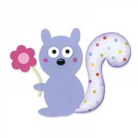 657696 Sizzix Bigz Die - Squirrel & Flower