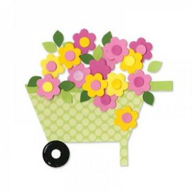 657698 Sizzix Bigz Die - Wheelbarrow & Flowers