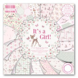 "Carta blocco Scrap E' una femmina FEPAD080 It's a Girl! 15x15 cm (6""x6"")"