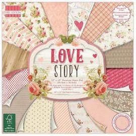 Blocco carte scrap First Edition 30x30 Paper Pad Love story fepad113