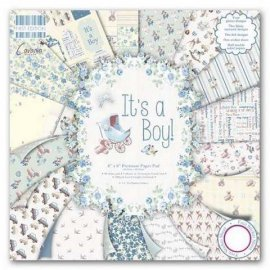 First Edition It's a Boy 8x 8 Papers FEPAD076