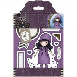 GOR 907121 Rubber Stamps - Santoro Tweed - Rainy Daze