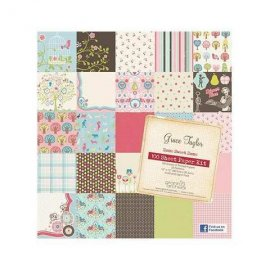 "Grace Taylor Home Sweet Home 100 Sheet Paper Kit GS2697 30x30cm (12""x12"")"