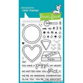 LF1018 Clear Stamps - Pizza My Heart