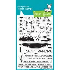 LF1163 Clear Stamps - Dad + Me