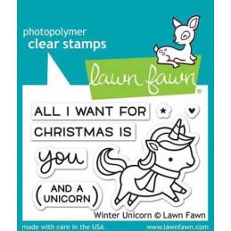 Timbro Lawn Fawn - Unicorno...