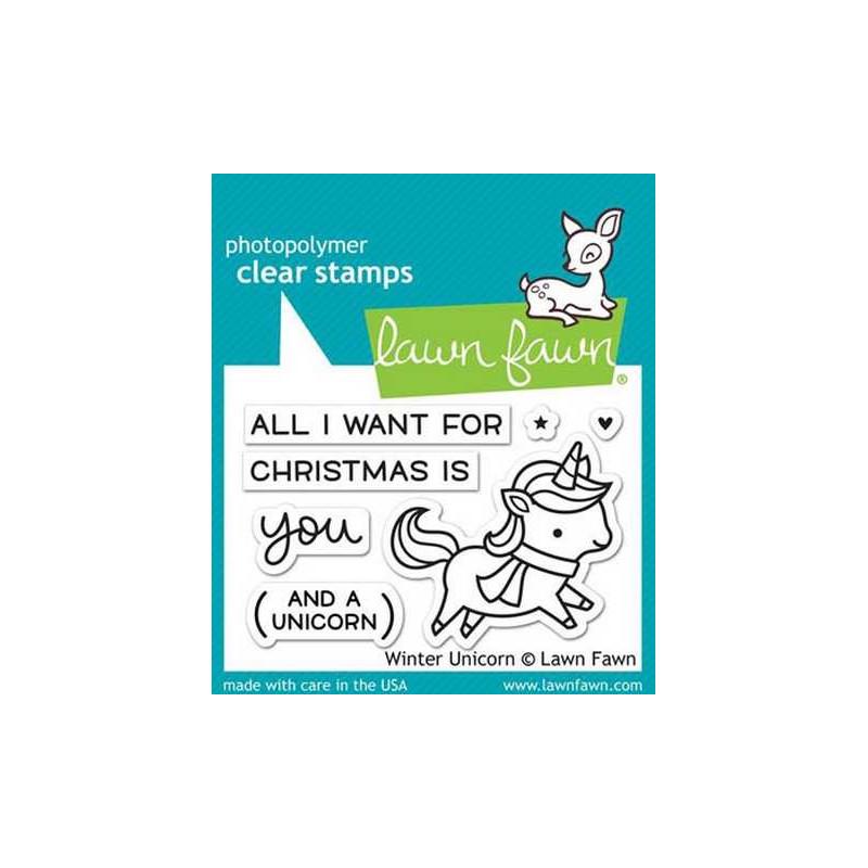 Timbro Lawn Fawn - Unicorno - LF1218