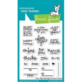 LF1222 Clear Stamps - Tiny Tag Sayings