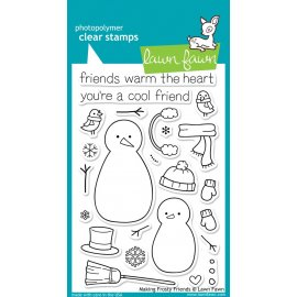 LF362 Clear Stamps - Making Frosty Friends
