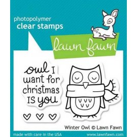 LF434 Clear Stamps - Winter Owl