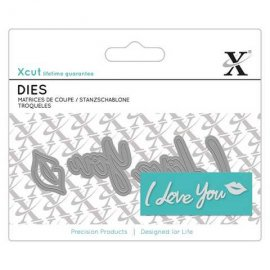 Mini Sentiment Die (4pcs) - I Love You XCU 504051