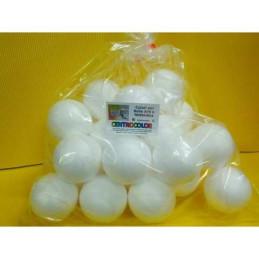 Palla polistirolo sfera , set da 50 palline diam. 4 cm