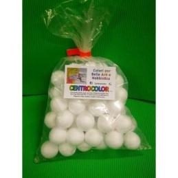 Palla polistirolo sfera set da 60 palline  diam. 3 cm