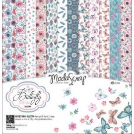 "Carta blocco Scrap Sogno di una farfalla MSA15ABD Butterfly dream 15x15cm (6""x6"")"