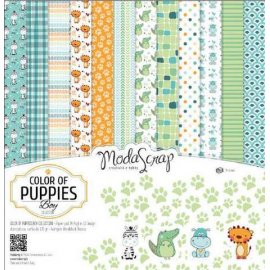 SET CARTA MS 15x15 colors of puppies boy cf.24 fg. (MSA15ACOPB)