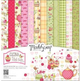 "Carta blocco Scrap Cucina with love MSA15ACWL 15x15cm (6""x6"")"