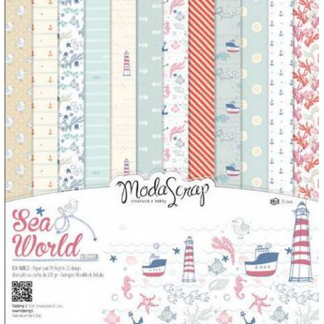 "Carta blocco Scrap Mondo marino MSA15ASW Sea World 15x15cm (6""x6"")"