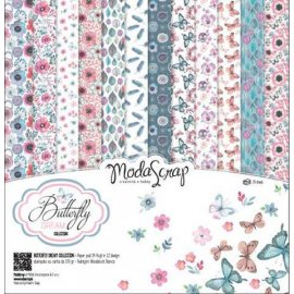 Blocco scrap 30x30 CARTA MS BUTTERFLY DREAM 12 fg.