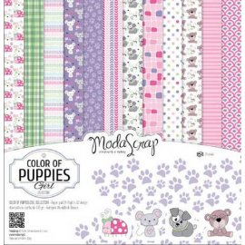 SET CARTA MS COLOR OF PUPPIES GIRL 30x30 cf.24 fg. (MSA30ACOPG)