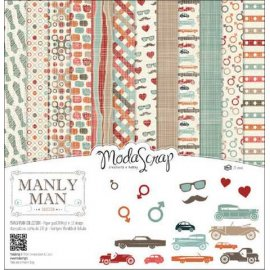 Carte blocco scrap CARTA MANLY MAN 30x30 12 fg