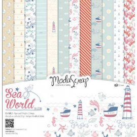 SET CARTA MS SEA WORLD 30X30 cf. 12fg. moda scrap
