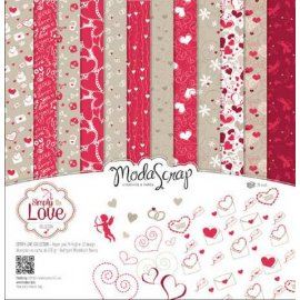 Carte blocco scrap SIMPLY LOVE 30x30 12 fg