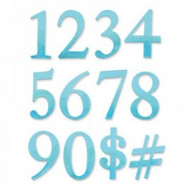 Sizzix Bigz Alphabet Set 2 Dies - Serif Essentials Numbers 656616