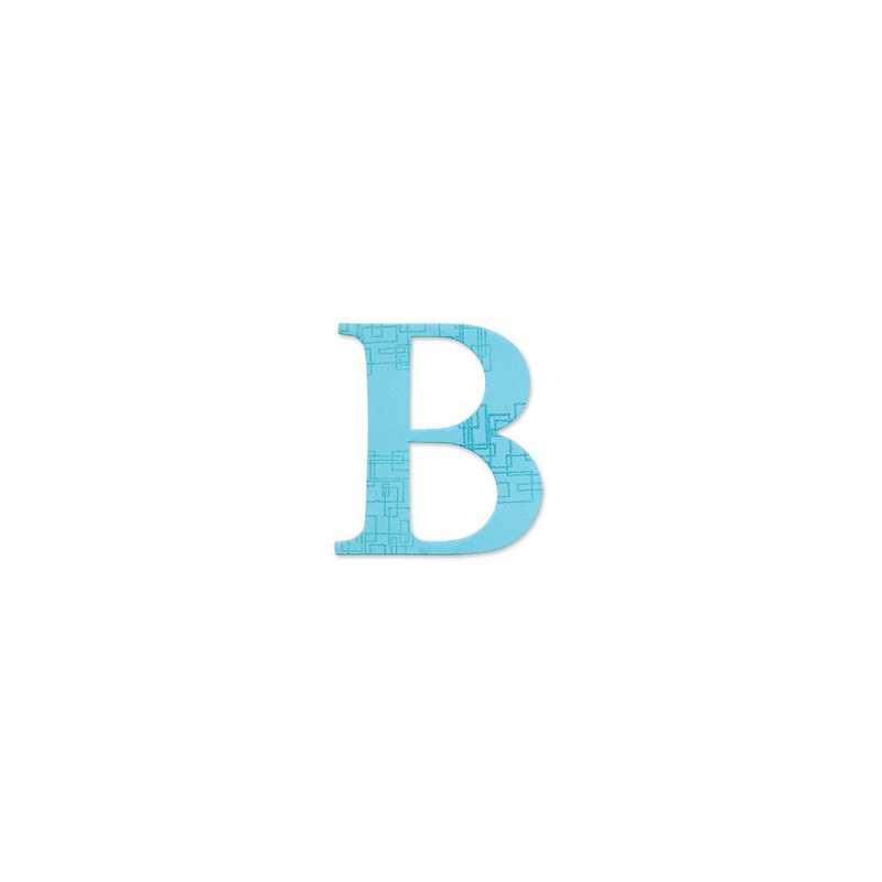 """Sizzix Bigz Alphabet Uppercase Die - Sassy Serif Letter """"B""""654717"""